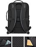 Рюкзак Bange BGS51 классический деловой влагозащищенный USB черный 30 л, фото 4