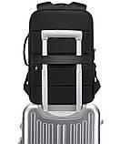 Рюкзак Bange BGS51 классический деловой влагозащищенный USB черный 30 л, фото 3