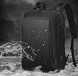 Рюкзак Bange BGS51 классический деловой влагозащищенный USB черный 30 л, фото 7