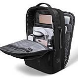 Рюкзак Bange BGS51 классический деловой влагозащищенный USB черный 30 л, фото 2