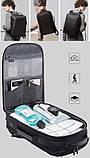 Рюкзак Bange BGS51 классический деловой влагозащищенный USB черный 30 л, фото 8