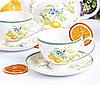 Фарфоровый чайный набор на 6 персон Лимон 250 мл 924-381