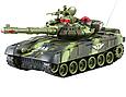 Детский боевой танк на радиоуправлении для мальчика 9993 (S+1+1+2) со звуковыми и световыми эффектами, фото 4