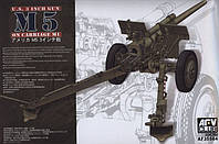 "Сборная модель  ""Противотанковая 105 мм пушка M5 на лафете M1 """