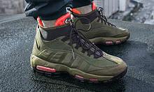 Мужские кроссовки Nike Аir Max 95 Sneаkerbоot в стиле Найк Хаки (Реплика ААА+)