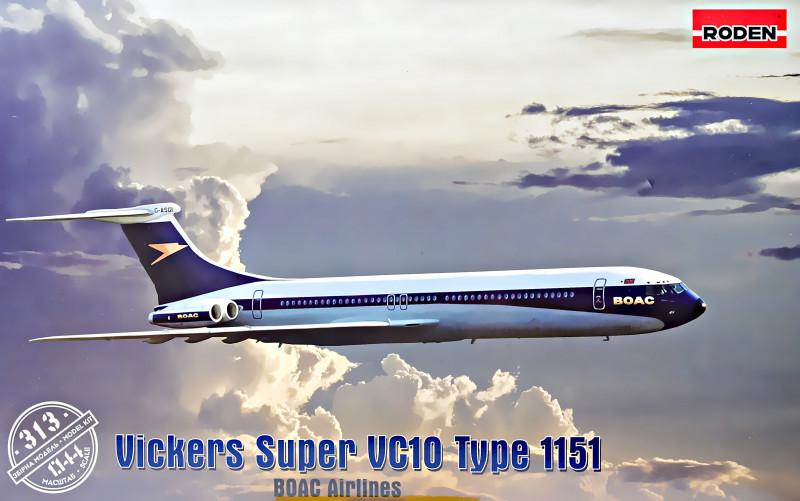 "Сборная модель ""Лайнер Vickers VC-10 Super Type 1151"""