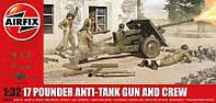 """Сборная модель  """"Противотанковая пушка Ordnance QF 17-pounder с расчетом """""""