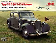 """Сборная модель  """"Немецкий штабной автомобиль Typ 320 (W142) седан, II МВ """""""