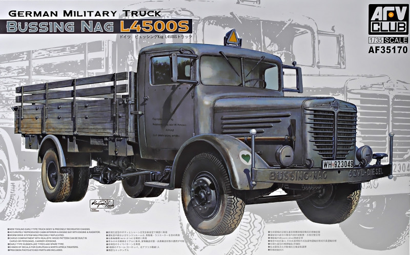 """Сборная модель  """"Военный грузовик Bussing NAG L4500S """""""