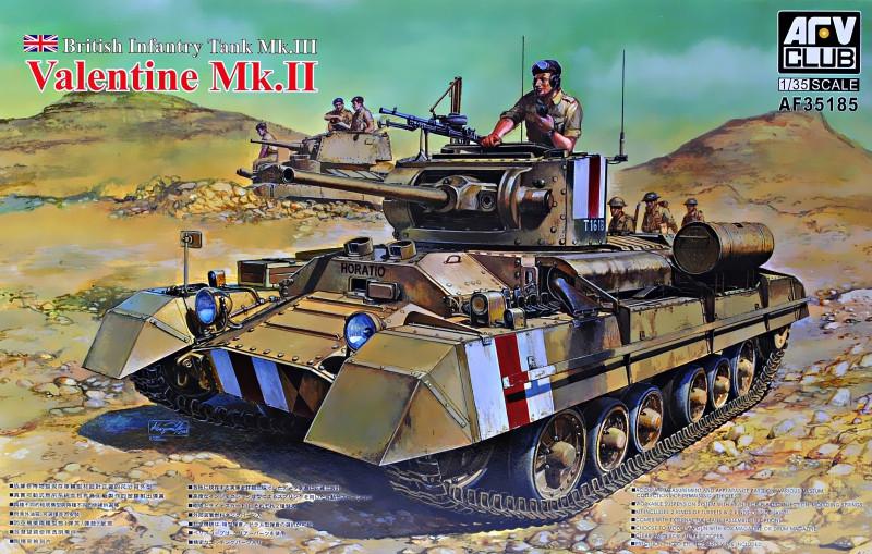 """Сборная модель  """"Британский пехотный танк Valentine Mk. II """""""