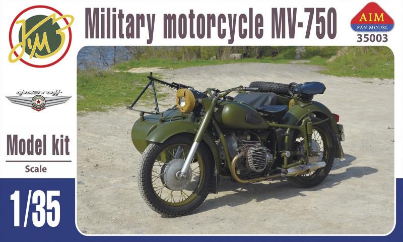 """Сборная модель """"Советский мотоцикл МВ-750 с коляской"""""""