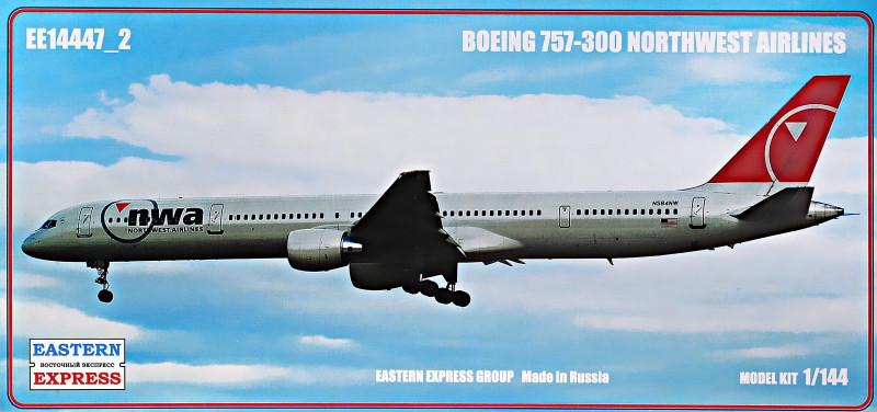 """Сборная модель """"Пассажирский самолет Boeing 757-300 """"Northwest airlines"""""""""""