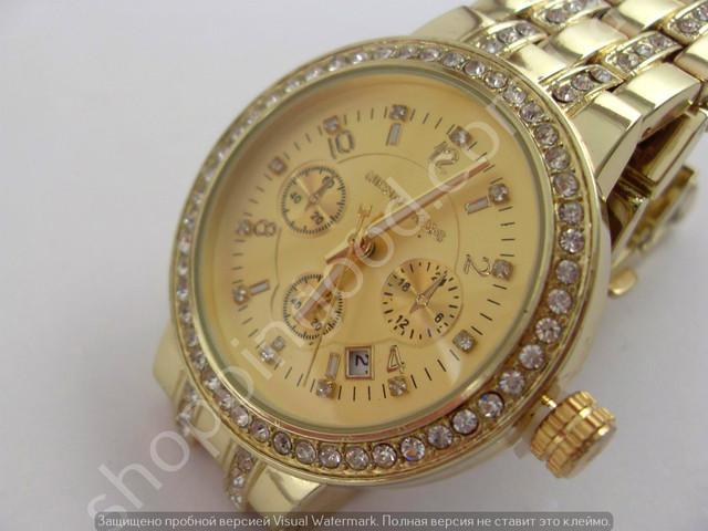 1f3520d6a28a Часы Michael Kors MK 3112 (013489) золотистого цвета украшены блестящими  стразами. Металлический браслет также украшен вставками из страз.
