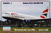 """Сборная модель """"Пассажирский авиалайнер Airbus A318-100, British"""""""