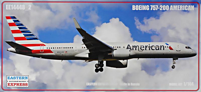"""Сборная модель """"Пассажирский самолет Boeing 757-200 """"American"""""""""""