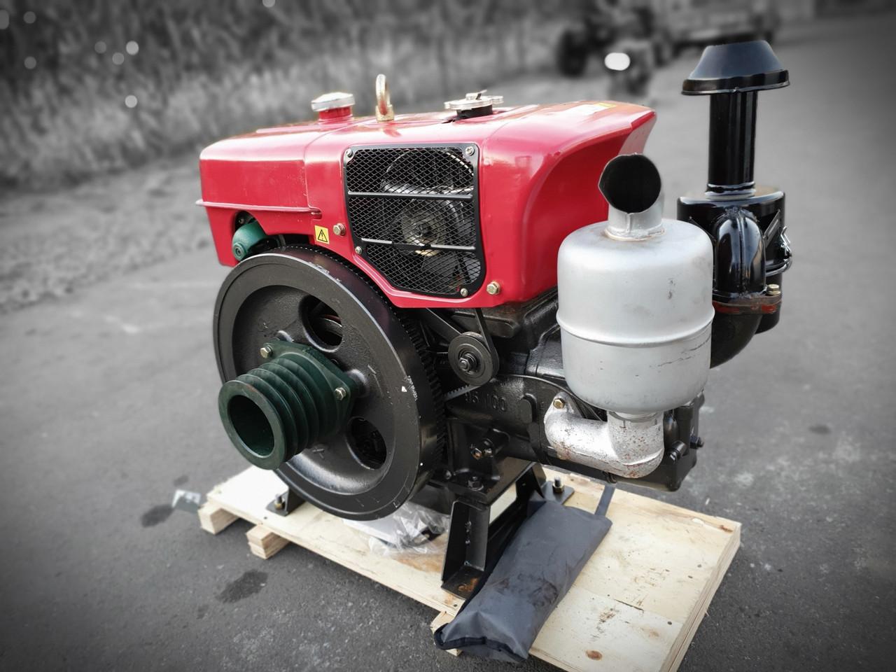 Двигатель дизельный ДМТЗ ZS1100BNM мощностью 18л.с, водяное охлаждение, премиум сборка, гарантия, шкив 5-х руч