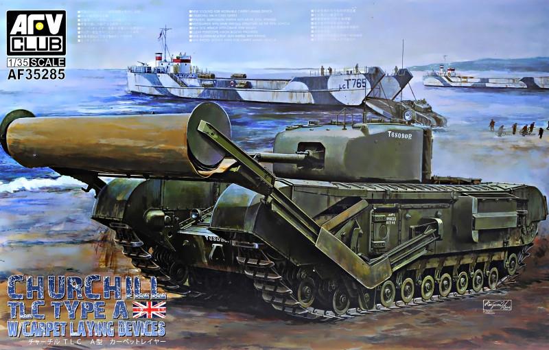 """Сборная модель  """"Танк Churchill Mk. IV TLC с инженерным оборудованием (Type A) """""""