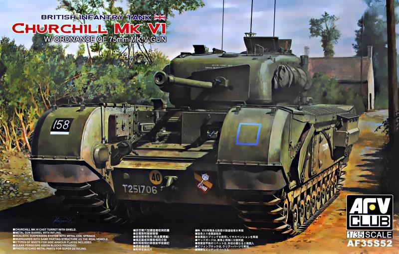 "Сборная модель  ""Британский пехотный танк Churchill MK VI с 75 мм пушкой MK V (Limited) """