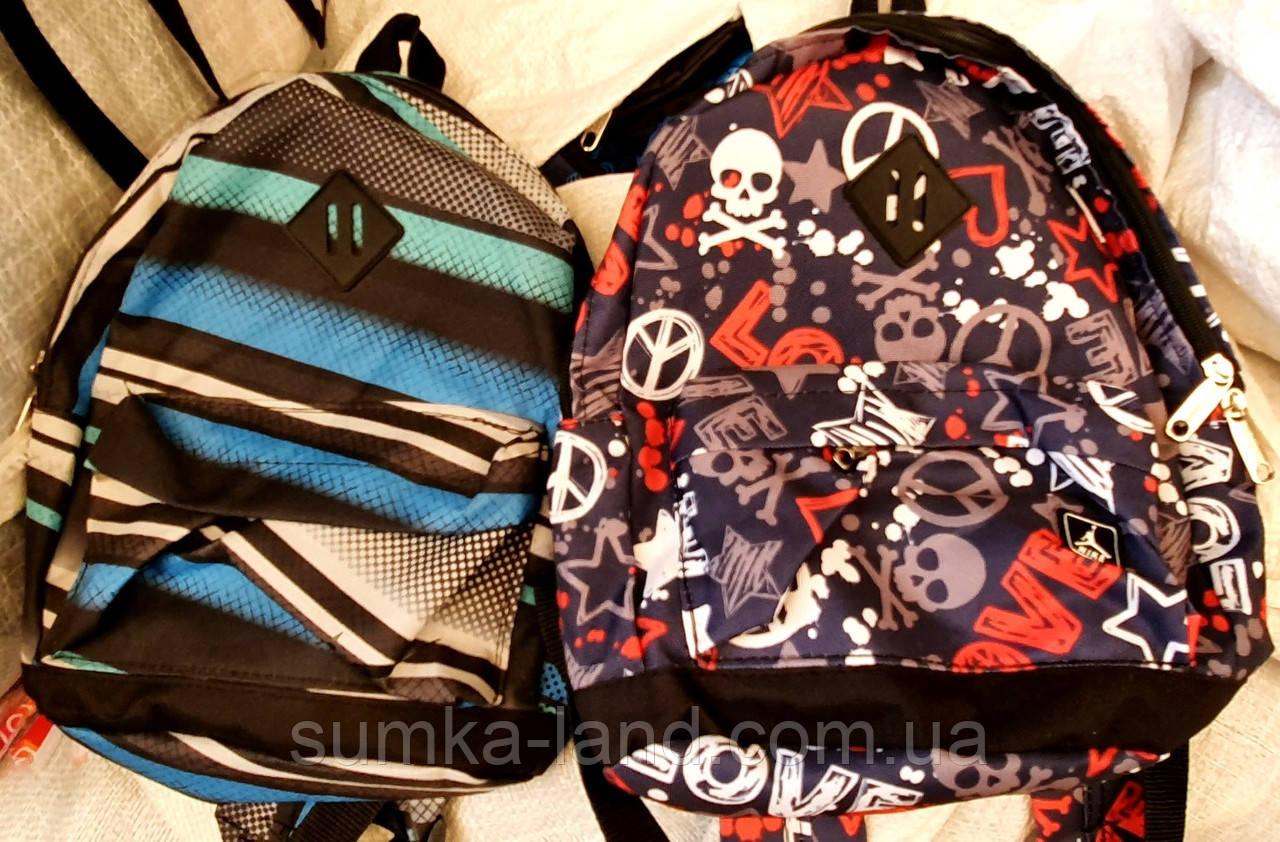 Городские текстильные рюкзаки с модными принтами 21*28 см