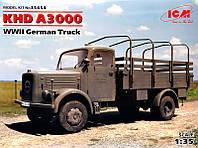 """Сборная модель  """"Немецкий грузовой автомобиль KHD A3000, 2 МВ """""""