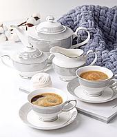 Фарфоровый чайный сервиз на 6 персон 200 мл 975-012