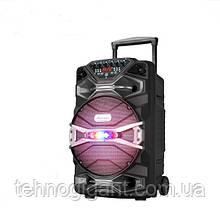 Беспроводная колонка чемодан Ailiang U1318SK, 12 дюймовая акустика, комбоусилитель + пульт и 2 микрофона