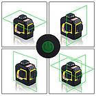 Лазерный уровень нивелир 3D Firecore F93TG в кейсе, фото 6