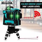 Лазерный уровень HILDA 3D + Штатив БИРЮЗОВЫЙ ЛУЧ, фото 3