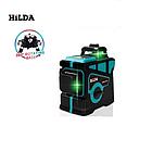 Лазерный уровень HILDA 3D + Штатив БИРЮЗОВЫЙ ЛУЧ, фото 4