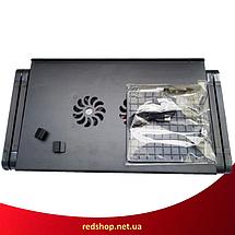 Столик для ноутбука Laptop Table T8 - складаний столик підставка для ноутбука з охолодженням (2 кулера), фото 3