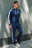 Мужской синий костюм с лампасами (весна-осень), фото 3