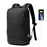 Рюкзак Bange BG-22188 міський дорожній вологозахищений USB чорний 27л, фото 2