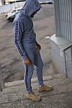 Спортивний костюм сірий Kappa, фото 2