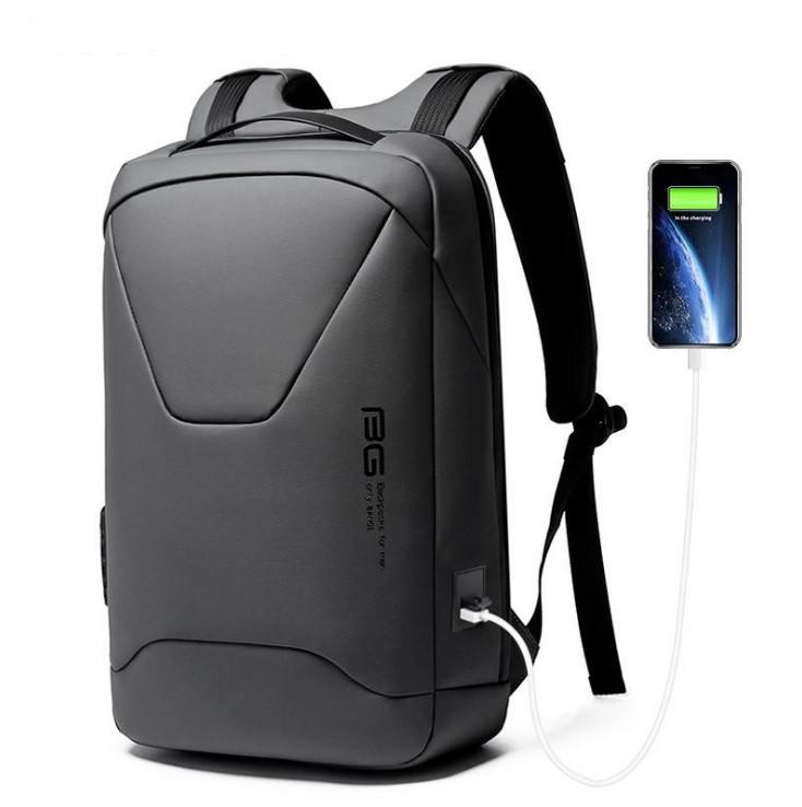 Рюкзак Bange BG-22188 міський дорожній вологозахищений USB сірий 27л
