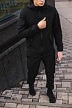 Чоловічий костюм чорний демісезонний Softshell Intruder. Куртка чоловіча чорна, штани утеплені. Ключниця в подарунок, фото 2