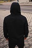 Чоловічий костюм чорний демісезонний Softshell Intruder. Куртка чоловіча чорна, штани утеплені. Ключниця в подарунок, фото 4