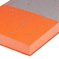 "Ежедневник А5 недатированный YES ""Giovanni"", мягк., 432 стр., серый/оранжевый код: 252060, фото 3"