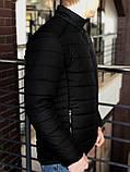 Мужская Весенняя  чёрная куртка пуховик (Осень), фото 2