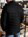 Мужская Весенняя  чёрная куртка пуховик (Осень), фото 3