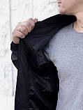 Бомбер Весняний чоловічий чорний, фото 3