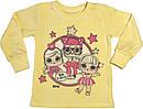 Детская пижама рост 86 1 год-1,5 года трикотажная интерлок жёлтая Лол на девочку для малышей Ж977, фото 2