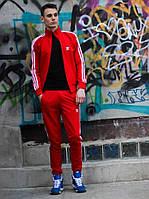 Мужской спортивный Костюм Adidas красный, фото 1