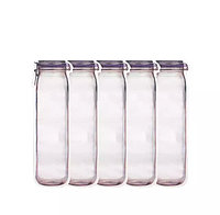 Многоразовый пластиковый пакет на молнии в форме банки 4 шт. 500 мл.