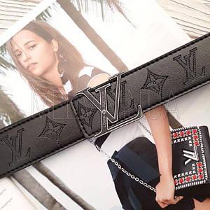 Женский кожаный ремень Louis Vuitton реплика Черный