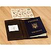 Кожаная обложка на паспорт Орех - Фото