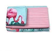 """Семейный комплект (Ранфорс)   Постельное белье от производителя """"Королева Ночи""""  Фламинго на голубом и розовом, фото 2"""
