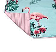 """Семейный комплект (Ранфорс)   Постельное белье от производителя """"Королева Ночи""""  Фламинго на голубом и розовом, фото 4"""