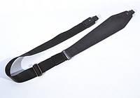 Ремінь для рушниці трапеція №2 шкіра Ретро чорний, фото 1