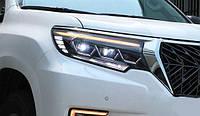 Альтернативная оптика передняя на Toyota Land Сruiser Prado 150 2018- Full LED стиль для Lexus LX570 PW тюнинг