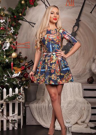 Короткое молодежное платье , фото 2